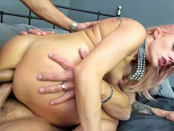 MILF Brittany Bardot Prolapses In Double-Anal 3-Way